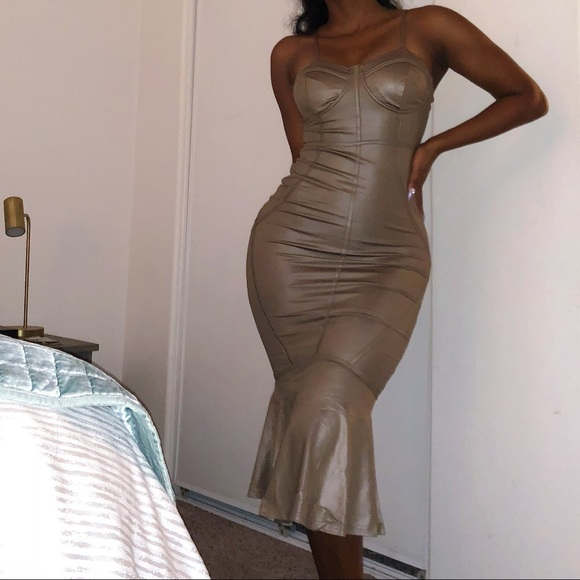 Dresses & Skirts - Leatherette Bodycon